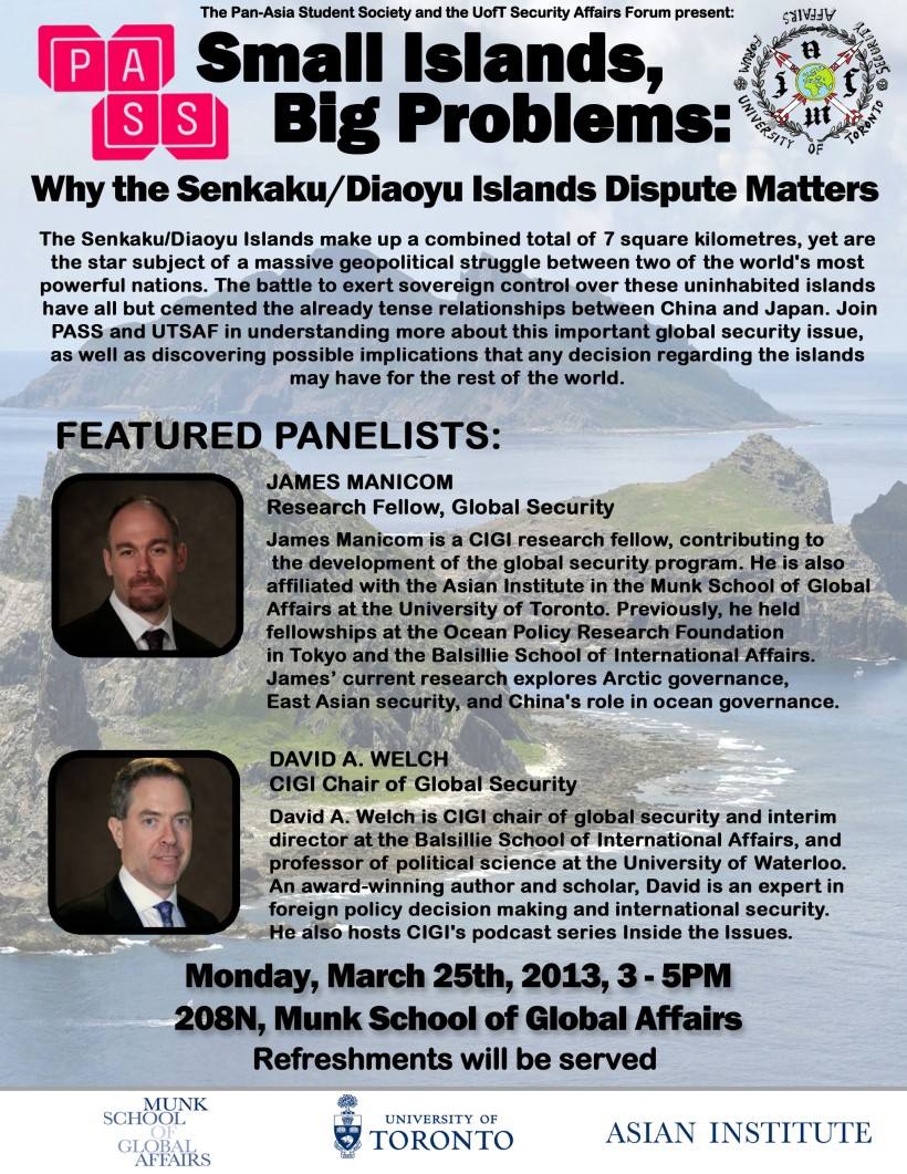 Senkaku Diaoyu Island Event Poster VERSION 3
